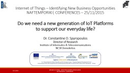 Internet of Things – Identifying New Business Opportuniti