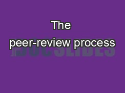 The peer-review process