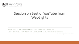 Session on Best of YouTube from