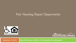 Fair Housing/Equal Opportunity