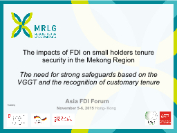 The impacts of FDI on
