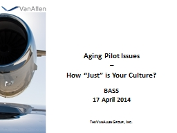 Aging Pilot Issues PowerPoint PPT Presentation