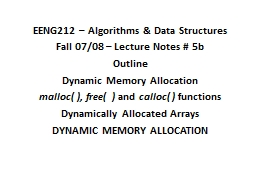 EENG212 – Algorithms & Data Structures