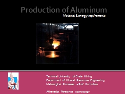 Production of Aluminum PowerPoint PPT Presentation