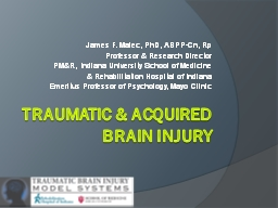 Traumatic & Acquired brain Injury PowerPoint PPT Presentation