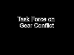 Task Force on Gear Conflict