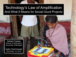 Technology�s Law of Amplification