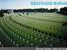 Death and Burial