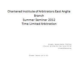 Chartered Institute of Arbitrators East Anglia Branch