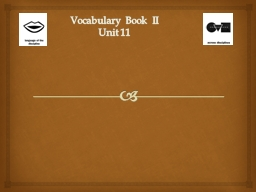 Vocabulary Book II