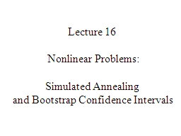 Lecture 16 PowerPoint PPT Presentation