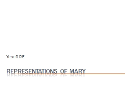 Representations of Mary PowerPoint PPT Presentation