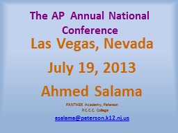 The AP  Annual National Conference