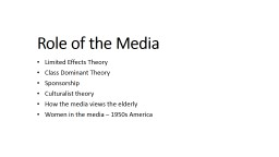 Role of the Media PowerPoint PPT Presentation