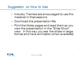 Suggestion on How to Use PowerPoint PPT Presentation