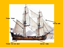 Timber hull and deck
