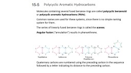 Polycyclic Aromatic Hydrocarbons PowerPoint PPT Presentation