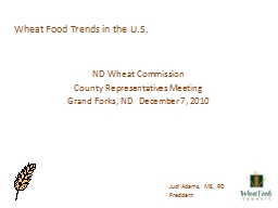 Wheat Food Trends in the U.S.
