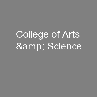 College of Arts & Science