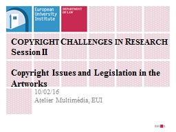 Copyright Challenges in Research