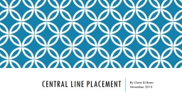 Central Line placement