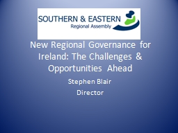 New Regional Governance for