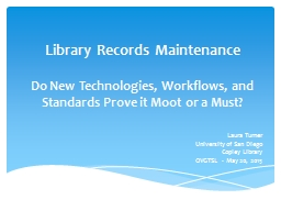 Library Records Maintenance