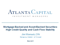 Mortgage-Backed and Asset-Backed Securities:  High Credit Q