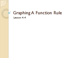 Graphing A Function Rule PowerPoint PPT Presentation