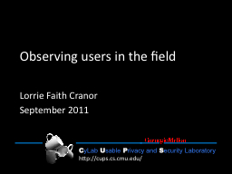 Observing users in