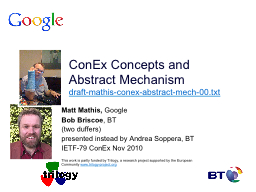 ConEx Concepts and Abstract Mechanism PowerPoint PPT Presentation