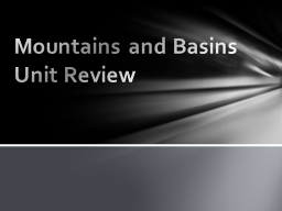 Mountains and Basins Unit Review