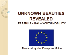 UNKNOWN BEAUTIES REVEALED PowerPoint PPT Presentation
