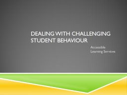 Dealing with Challenging Student