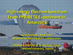 High-energy Electron Spectrum From PPB-BETS Experiment In A