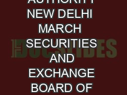 THE GAZETTE OF INDIA EXTRAORDINARY PART  III  SECTION  PUBLISHED BY AUTHORITY NEW DELHI  MARCH  SECURITIES AND EXCHANGE BOARD OF INDIA NOTIFICATION Mumbai the  th March  SECURITIES AND EXCHANGE BOARD
