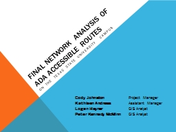Final Network Analysis of ADA Accessible Routes