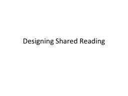 Designing Shared Reading