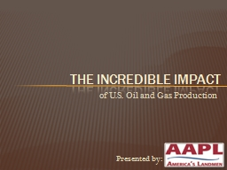 of U.S. Oil and Gas Production PowerPoint PPT Presentation