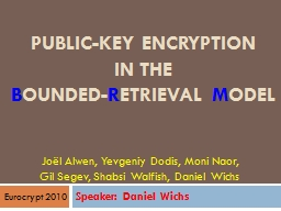 Public-Key Encryption PowerPoint PPT Presentation