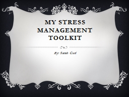 My Stress Management toolkit