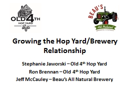 Growing the Hop Yard/Brewery Relationship