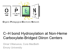 C–H bond Hydroxylation at Non-