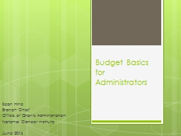 Budget Basics for Administrators PowerPoint PPT Presentation
