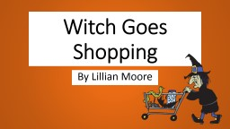 Witch Goes Shopping
