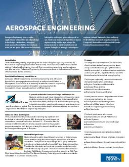 Accreditation The Bachelor of Engineering degree program in Aerospace Engineering is fully accredited by the Canadian Engineering Accreditation Board CEAB