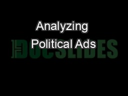 Analyzing Political Ads