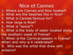 Nice et Cannes