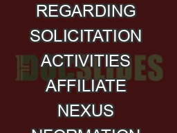BOE  FRONT   STATE OF CALIFORNIA ANNUAL CERTIFICATION BOARD OF EQUALIZATION REGARDING SOLICITATION ACTIVITIES AFFILIATE NEXUS NFORMATION A retailer engaged in business in this state as defined in Rev