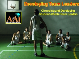 Developing Team Leaders PowerPoint PPT Presentation